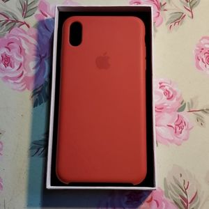 Red, apple cell phone case